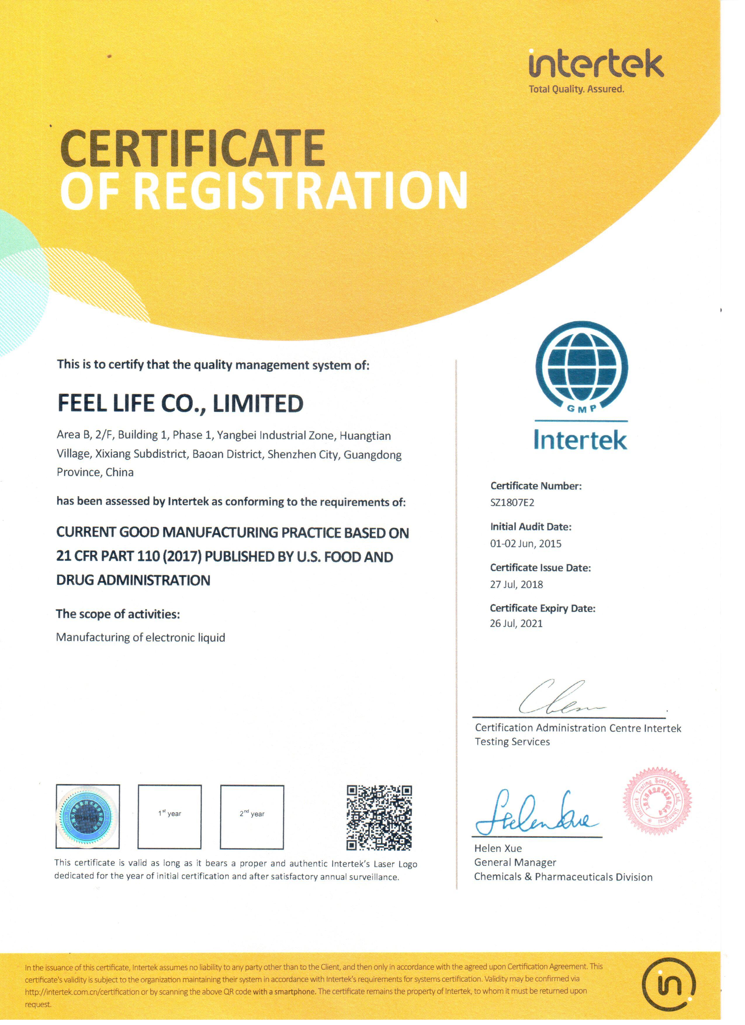 FEELLIFE quality management system