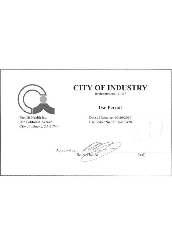 City of Industry tillatelse